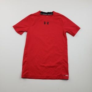 Under Armour Boys Solid red Logo T shirt fitted Md